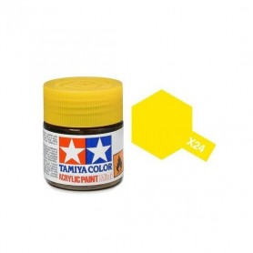 X24 jaune transparent brillant pot Tamiya