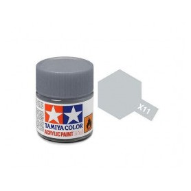 X12 argent chromé brillant pot Tamiya