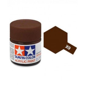 X9 marron brillant pot Tamiya