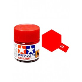 X7 rouge brillant pot Tamiya