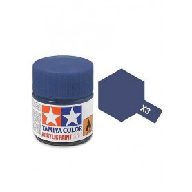 X3 bleu royal brillant pot Tamiya
