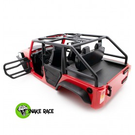Carrosserie Jeep  JK + arceau 4 portes 1/10e