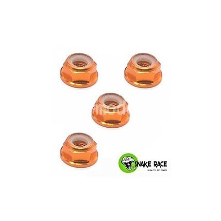 Ecrous de roues alu orange 100545 Snake Race
