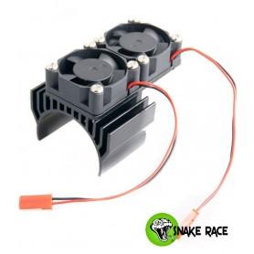 Radiateur moteur double ventilateur noir 10111 Snake Race