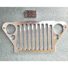 Calandre avant aluminium Jeep 1/6e H-TECH