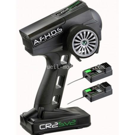 RADIO CR2S V2 2.4GHZ + 2 récepteurs ABSIMA