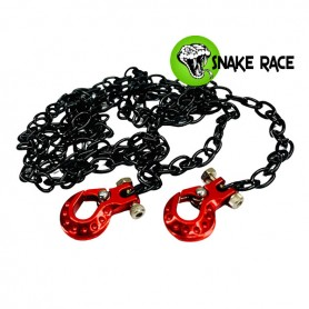 Crochet alu + chaine de remorquage 1103 Snake Race