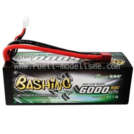 Lipo 14,8V 6000 mah 50C 4S Gens Ace Bashing