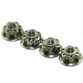 Ecrous de roues cannelés (gun metal) 56407GU Topcad