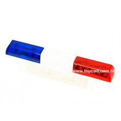 Rampe lumineuse d'intervention bleu/rouge 56369 Topcad