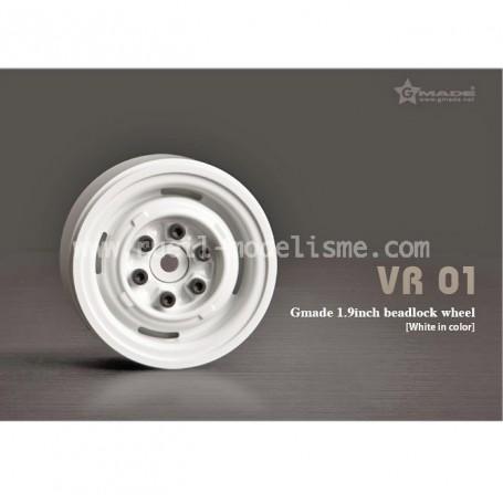 Jantes beadlock 1.9 VR01 blanches 70106 GMade