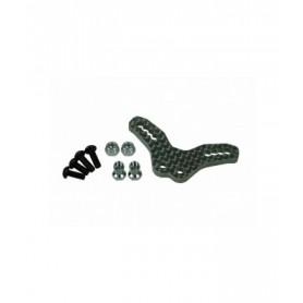 Support amortisseurs AV carbone M06 M06-01/WO 3racing