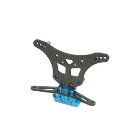 Support amortisseurs AR carbone DT02-09/WO 3racing