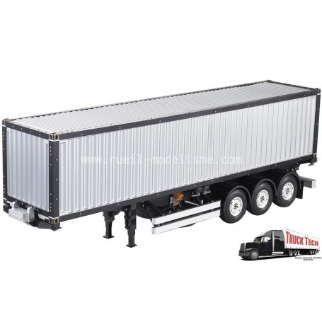 Container 40 pieds + remorque 3 essieux 140405 Truck tech