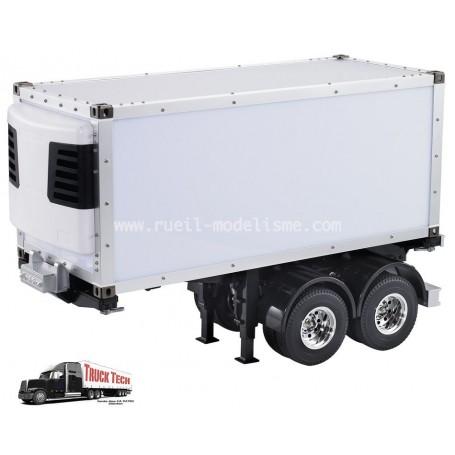 Frigo. 20 pieds + remorque 2 essieux 140414 Truck tech