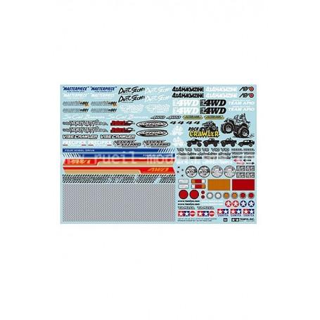Autocollant sponsors tout-terrain 54630 Tamiya