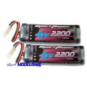 Batteries 7.2V 2200 mah Sport Power les 2 Orion